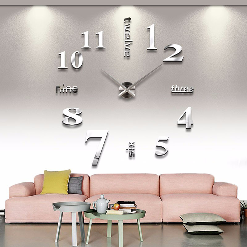 Muhsein 2019 New Metal Home Wall Decoration Wall Clock Wall Watch Large