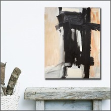 Fashion Large Size hand paint Oil Painting Franz kline Sawyer Canvas Wall Art Pictures for Living Room and Bedroom No Frame