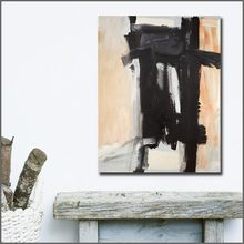 Fashion Large Size hand paint Oil Painting Franz kline Sawyer Canvas Wall Art Wall Pictures for Living Room and Bedroom No Frame(China)