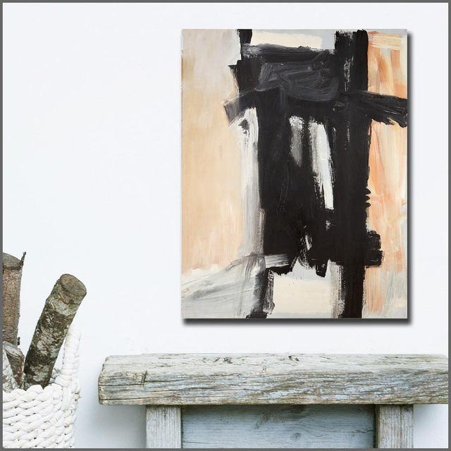 Fashion Large Size hand paint Oil Painting Franz kline Sawyer Canvas Wall Art Wall Pictures for Living Room and Bedroom No Frame