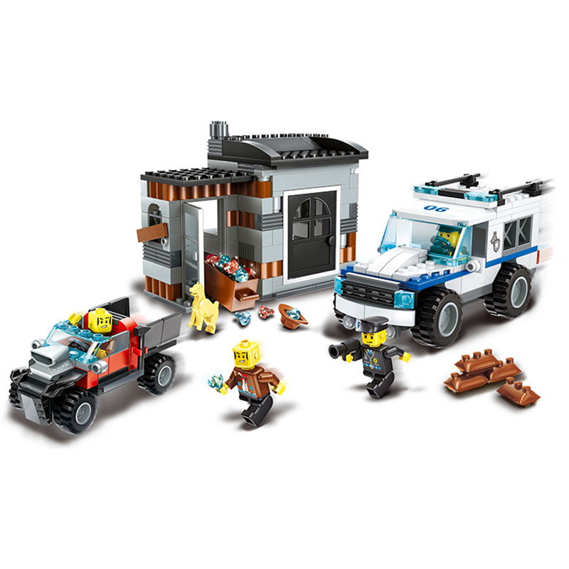 WANGE City Police Dogs Commando Super Cop Action Building Block Bricks Classic Educational Toys For Children Gifts wange city fire emergency truck action model building block sets bricks 567pcs classic educational toys gifts for children