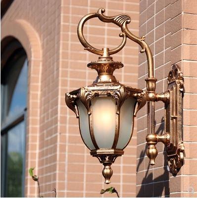 europeu ao ar livre lampada de parede a prova dwaterproof agua americano retro jardim ao ar