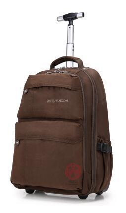 все цены на MenTravel Luggage wheeled travel Backpacks women Trolley Backpack bags Business Travel Duffle luggage bag suitcase on wheels онлайн