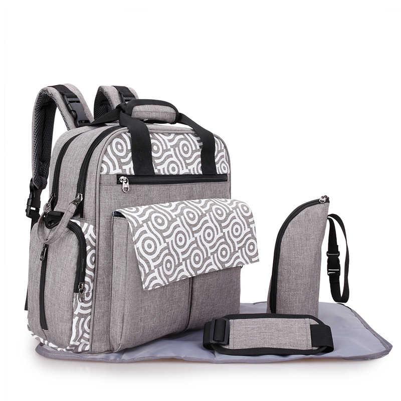 Фото Сумка для подгузников мамы рюкзак на плечо сумка детская коляска органайзер