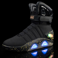 2019 Adults USB Charging 39~46 Led Luminous Shoes Mens Fashion Light Up Casual Men Be back to the Future Glowing Sneakers 412