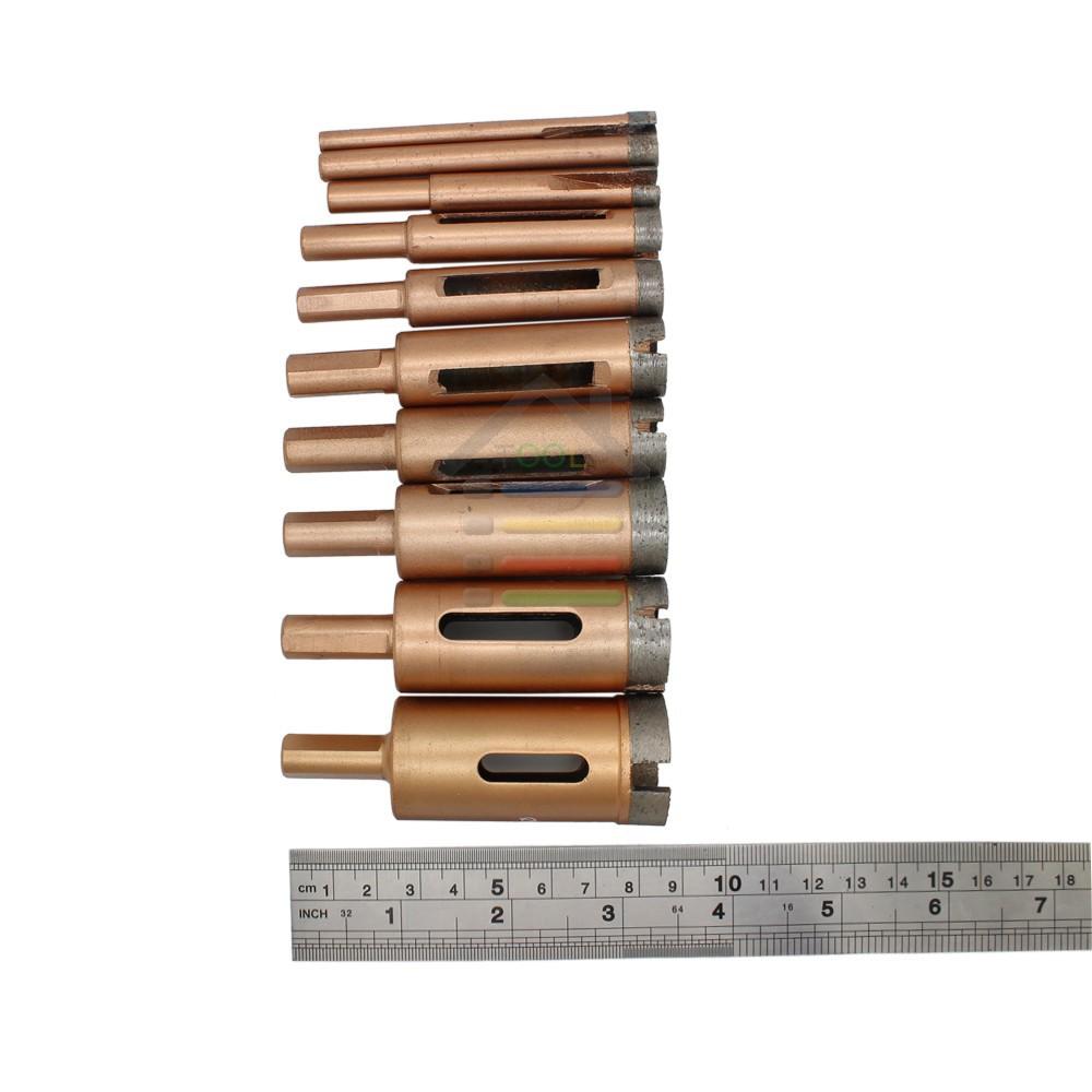 Купить Новый 10 ШТ. Алмазные Спекания Отверстие Пила Плитка Керамическая Мрамор Дрель бит Резак 6 мм 8 мм 10 мм 12 мм 14 мм 18 мм 20 мм 22 мм 25 мм 28 мм дешево