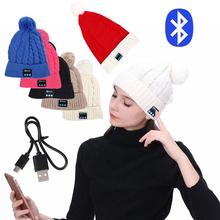 Wireless Bluetooth Stereo Caps Warm and Comfortable Music Winter Outdoor Sports with font b Microphone b