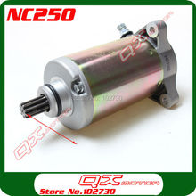 Zongshen 4 valve NC250 Water Cooled 250cc Engine Electric Starter Motor ZS177mm parts free shipping
