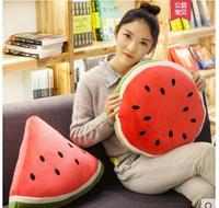 Cartoon watermelon hug pillowcase Car office multi function pillowcase