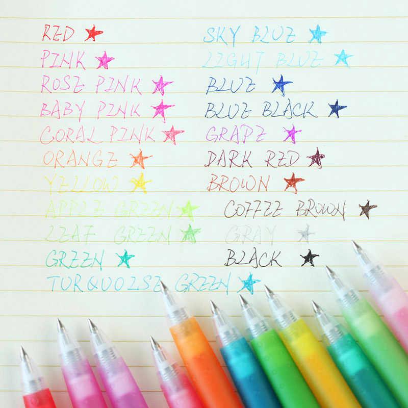 Pilot Juice 1 sztuk kolorowe długopisy żelowe szkolne artykuły biurowe długopisy żelowe dla studentów pisanie Pen 0.38mm stalówka długopis LJU-10UF