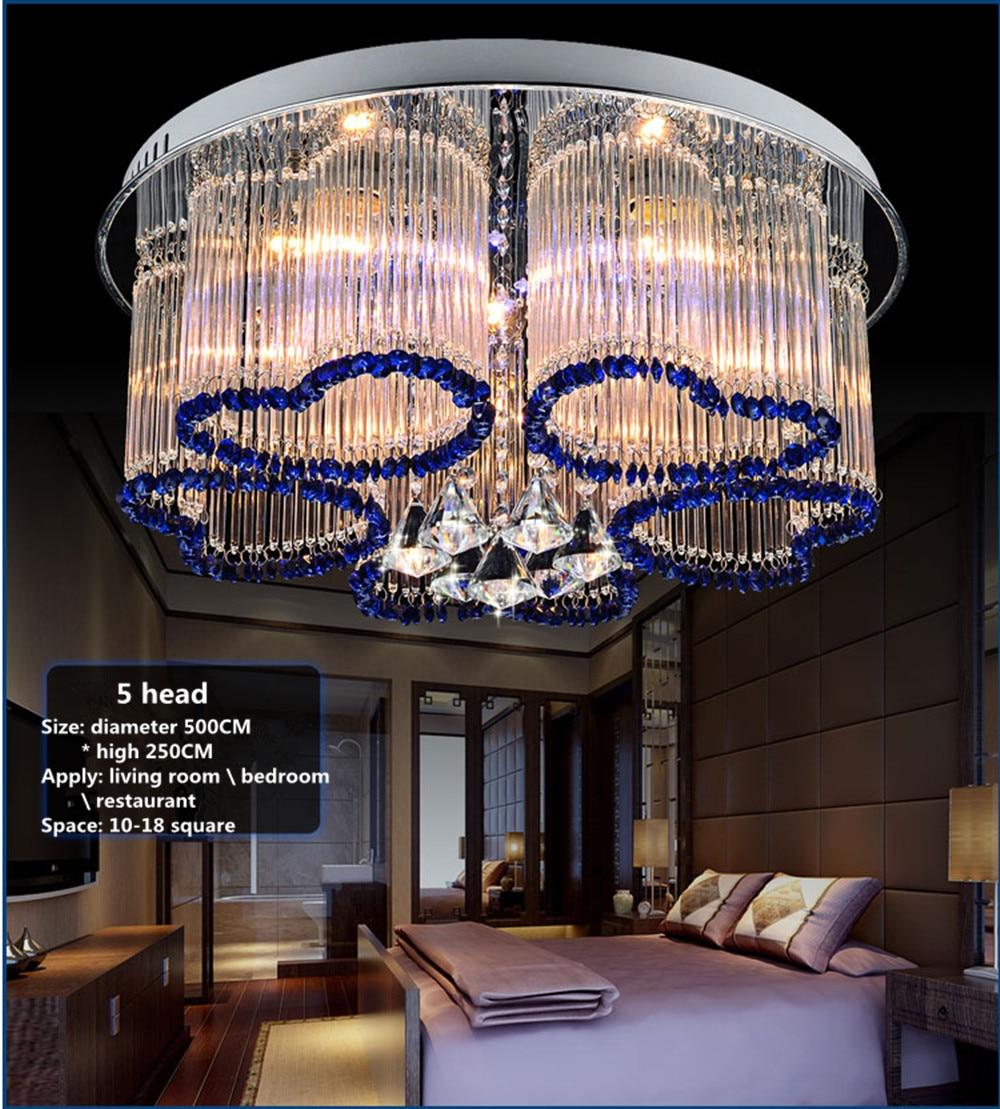 Romantic Bedroom Lighting: Bedroom Lights Warm Romantic Wedding Room Round Crystal