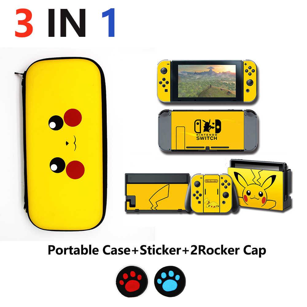 4 In 1 Nintend Schakelaar Accessoires Reizen Draagtas & Glas Film & Sticker Voor Nintendo Switch & Caps Voor ns & Shell