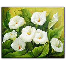5D Diy Diamond Painting Cross Stitch Green Leaves & Lilies Needlework Embroidery Full Round Mosaic Decoration Resin Kits