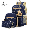 Preppy Style Backpack Fresh School Bag Girls 3 in 1 Bags Composite bag Set with Bearing for Students Buy 1 Get 3