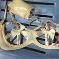 Pinup ver embora Lingerie Sexy 3/4 sutiã Underwired Bandage peito Caged Bra com laço de fita de cruz Bralette
