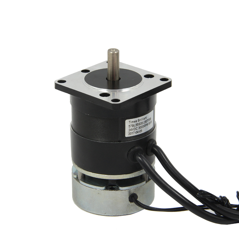 Nema23 DC Brushless Motor with Brake 24V 60W  3000 rpm High TorqueNema23 DC Brushless Motor with Brake 24V 60W  3000 rpm High Torque