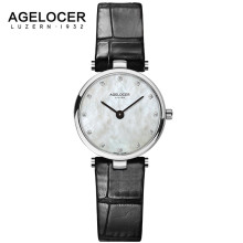 AGELOCER 2017 Top Brand Luxury Waterproof Watches Women Dress Quartz Clock Ladies Fashion Casual Wrist Watch for Women Girls