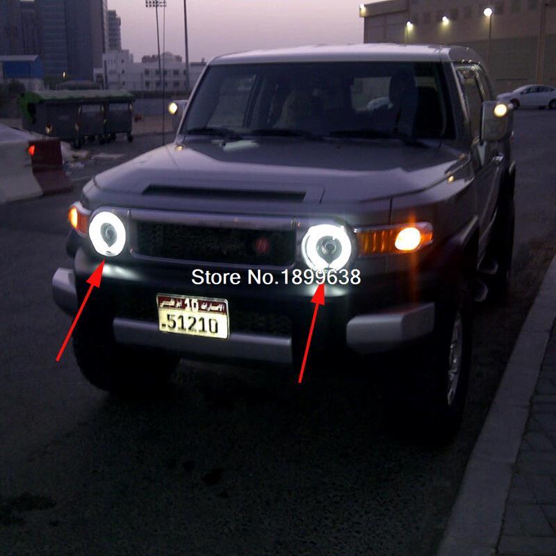 2pcs Super Bright 7 Color Rgb Led Angel Eyes For Toyota Fj