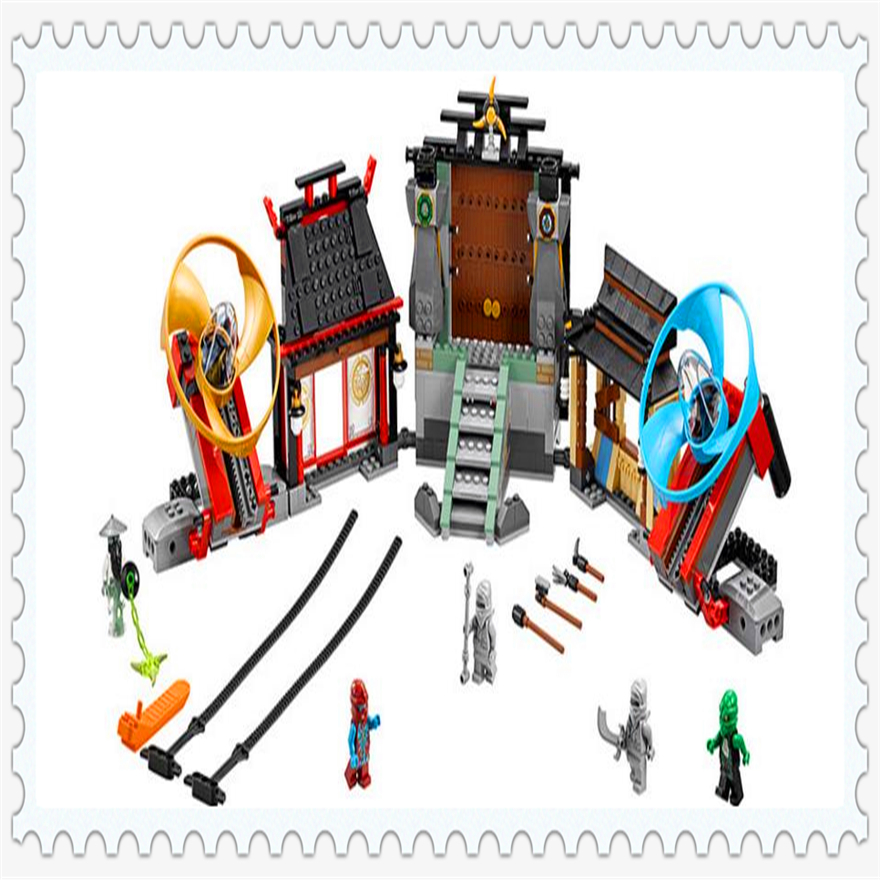 686Pcs Ninja Airjitzu Battle Grounds Temple Model Building Block Toys Enlighten 10527 Gift For Children Compatible Legoe 70590 lepin 22001 pirate ship imperial warships model building block briks toys gift 1717pcs compatible legoed 10210