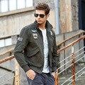 Homens jaqueta de marca aeronautica militare nova chegada custo militar do exército do ar um casacos bordados jaquetas plus size M ~ 4XL
