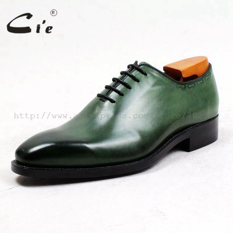 Flor Welted Corte Cuero Square Goodyear A Inferior Plena De Toe Hombres Respirable Hecha Becerro Mano Cie Conjunto Verde Zapatos Patina Ox495 SzTFFq