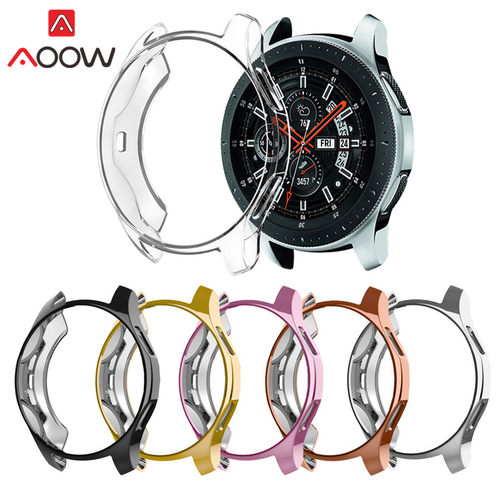 Soft Ultra-thin TPU Protective Case For Samsung Galaxy Watch 42mm 46mm Protector Cover Shell Full Protection Band For Gear S3