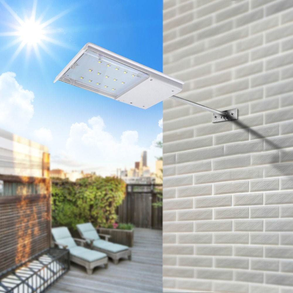 Solar Panel Power 15 LED Solar licht Sensor Wasserdichte Nacht Notfall wandleuchte Für Outdoor-straße Weiß-licht-garten-yard Pathway beleuchtung