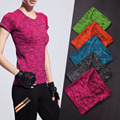 Fashion Breathable Women   Shirt Top Short Sleeve Quick Dry Fitness  Tshirt Active tees blusas femininas Y2