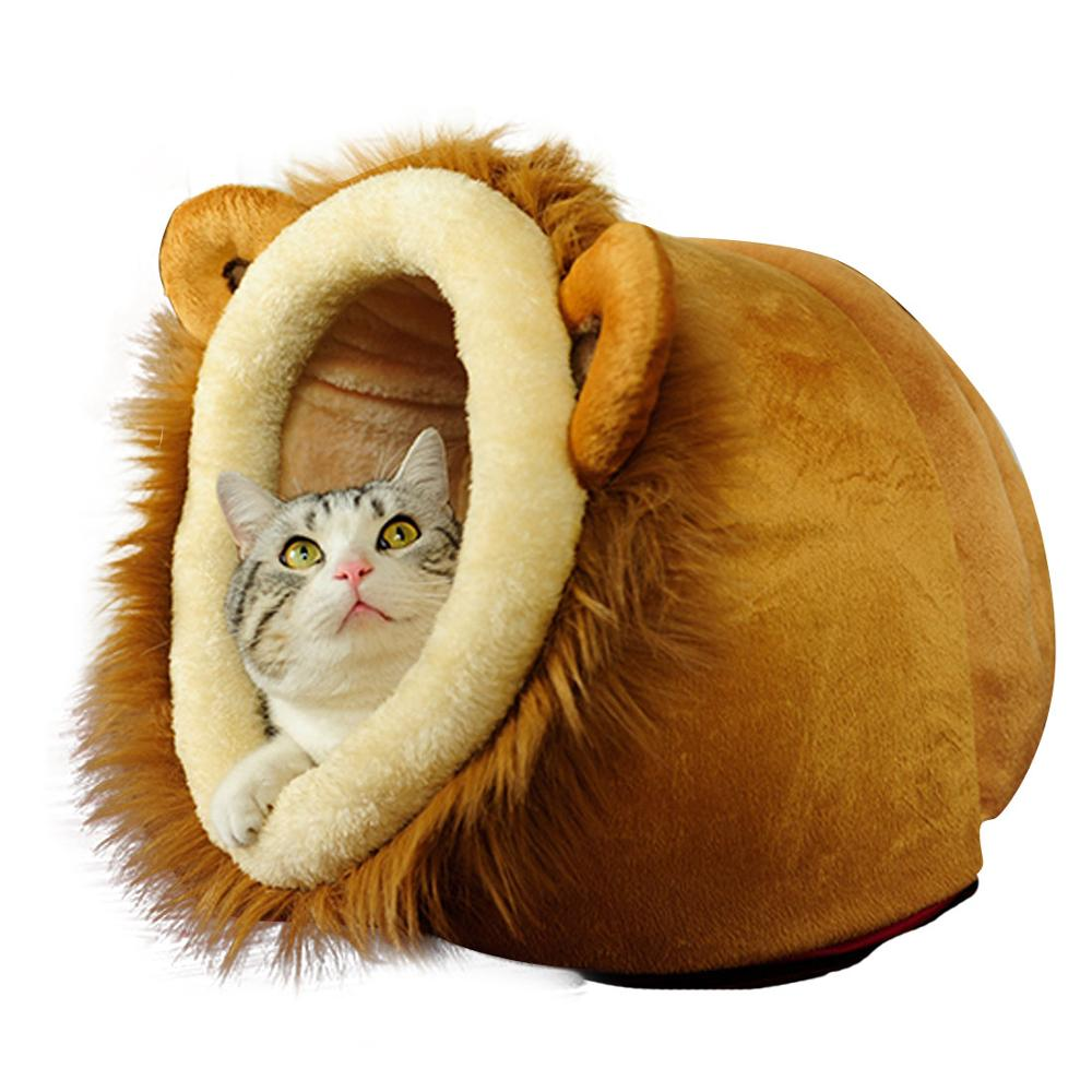 Pet Cat Beds House For Dogs Cat Leopard Lion Deer Shaped Dog Beds For Small Dog Goods For Pets Casetas Para Perros Free shipping