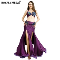 2019 Free Shipping Women Belly Dance Clothes Stage Performance Dance Wear Diamond Set Professional Belly Dance Costume Set 8831