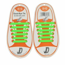 12Pcs/Set Summer Hot Sale Fashion Children Shoes Accessory No Tie Shoelaces Athletic Running Lazy No Tie Silica Gel Shoe Laces