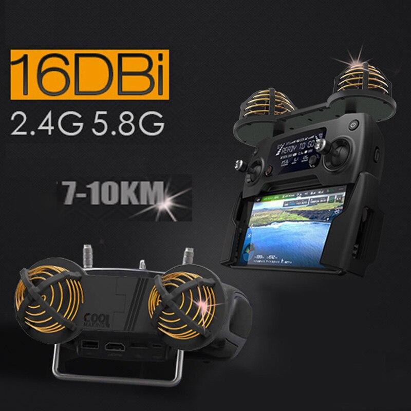 Amplificateur d'antenne DJI Mavic amplificateur de portée de Signal WiFi 16DBI 2.4 5.8 GHz circulaire polarisé pour Drone DJI Spark Mavic Pro