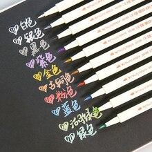 6551BR металлическая цветная ручка для каллиграфического письма, рисования, художественная ручка, каллиграфия, мягкая кисть, ручка, материал escolar, канцелярские принадлежности, школьные принадлежности