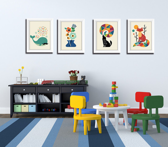 Wall Art Canvas Print for Kids Room