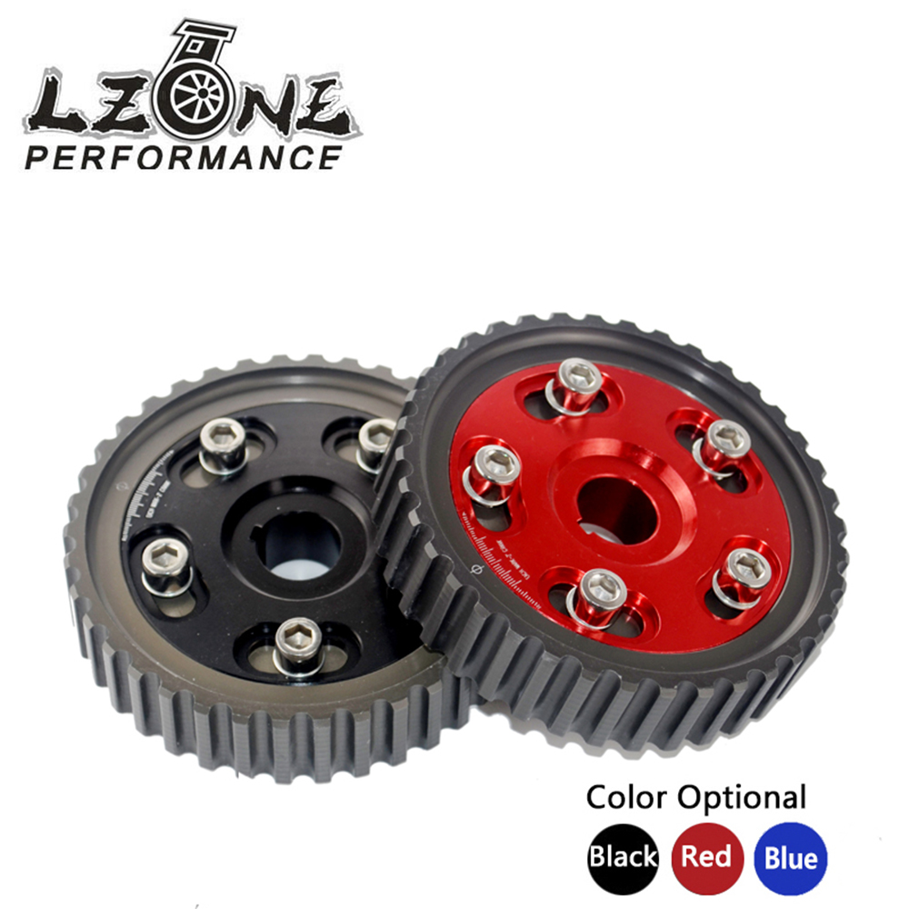 LZONE RACING - Adjustable Cam Gear Alloy Timing Gear FOR HONDA SOHC D15/D16 D-SERIES ENGINE CAM PULLEY PULLYS GEARS 1PCS blox racing 2pcs adjustable cam gear pulley cam pulley set for honda civic integra d16a sohc 96 00 inlet and exhaust ep cgd16bl