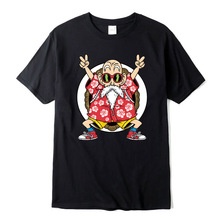 cotton casual Dragon Ball Z Goku print t shirt men SF