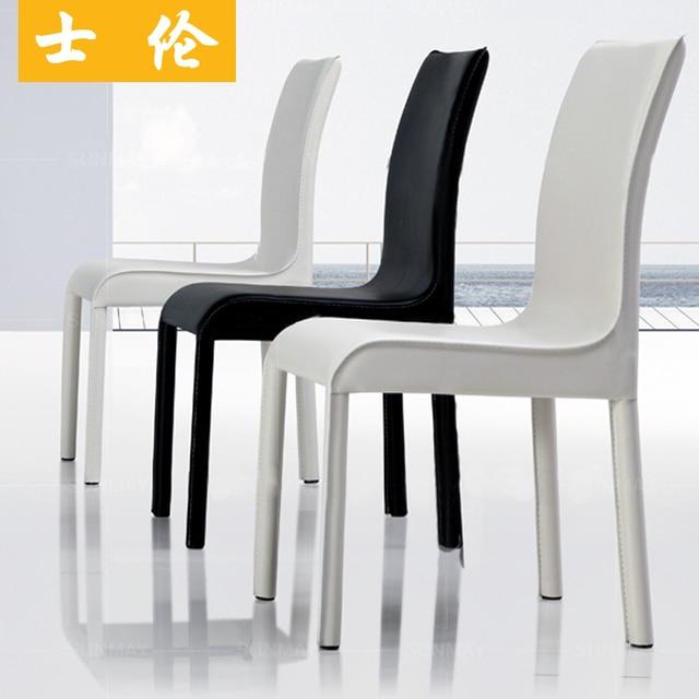 Lomb Noir Et Blanc Simplicit Lgante Chaise IKEA Salon Dinette Combinaison Promotions Crocodile Manger Chaises