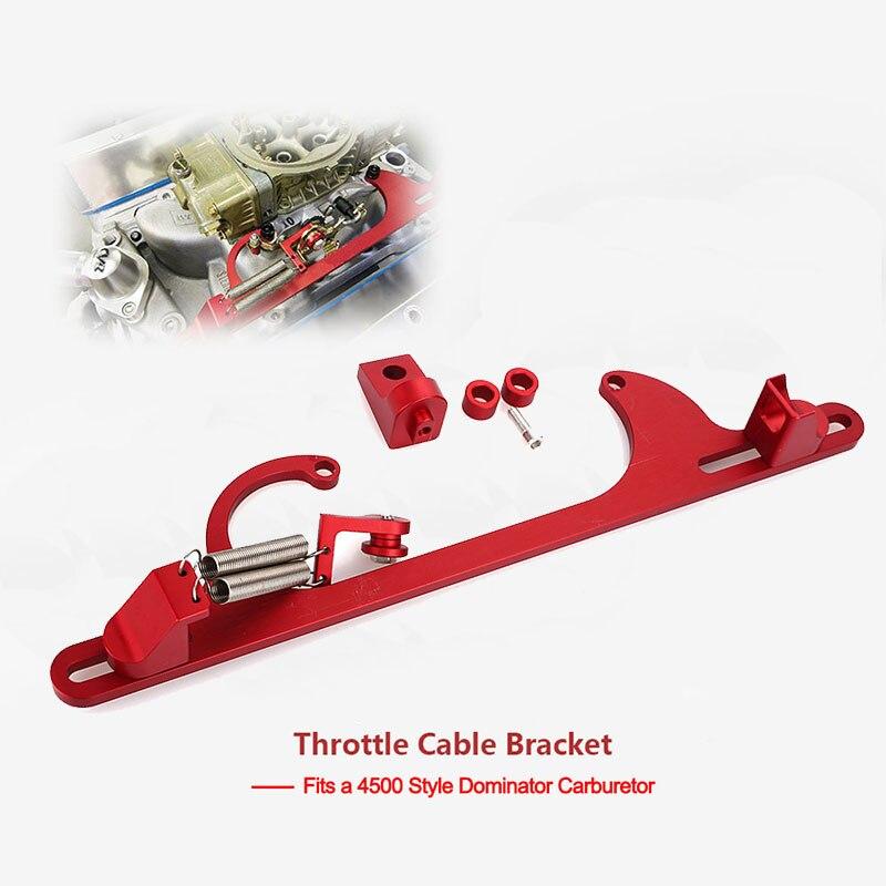Billet Aluminum Throttle Cable Bracket w// Double SS Return Spring for 4150 SILVR