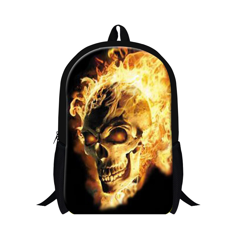 Cool Skull printing bookbags for teen boys,fashionable school backpacks for students,mens stylish shoulder back pack magazine