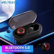 WELTEAYO TWS Bluetooth 5,0 наушники беспроводные мини наушники стерео бас гарнитура с микрофоном Громкая связь Bluetooth наушники для телефонов