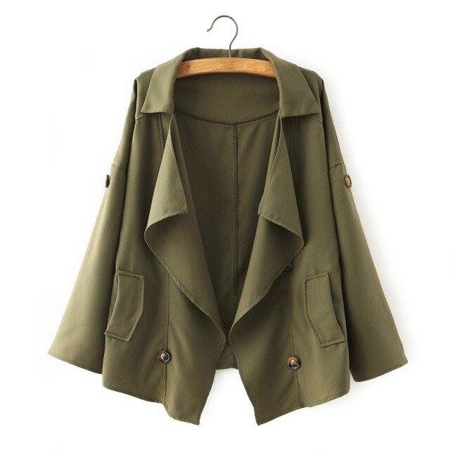 Короткая куртка пальто женщины европейский и америка дикий без тары военный оборудование битком ветровка женщина свободного покроя верхняя одежда