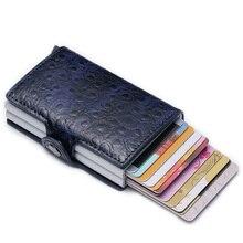 Maideduod 2019 Fashion New Credit Card Holder Anti RFID Men Id Metal Case Aluminium Protection Mini Wallet