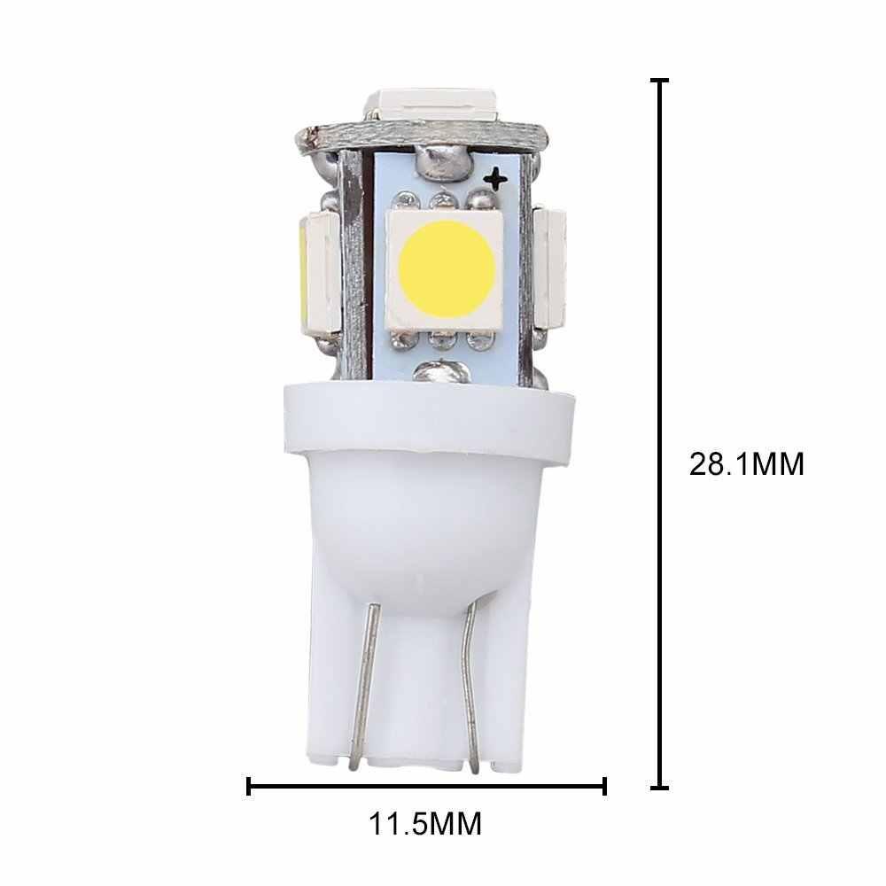 10 adet T10 LED W5W 5050 5SMD 192 168 194 beyaz ışıklar LED araba ışık kama lamba ampuller süper parlak DC 12V plaka işık DRL