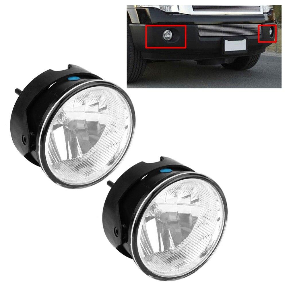 1 paire de Haute Luminosité Voiture LED Antibrouillard Avant Lumière Ronde Conduite Pare-chocs Lampes et Ampoules pour Ford Expedition Ranger