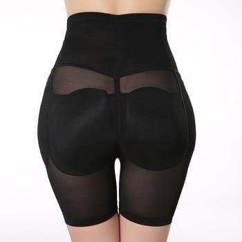 Plus Size S-XXL Black Padded Underwear Women's Hip Enhancer High Waisted Tummy Control Butt Lifter Panties Shapewear 3