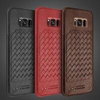 For Samsung Note 8 Case Shock Proof Phone Cover Premium PU Leather Weaving TPU Bumper PC