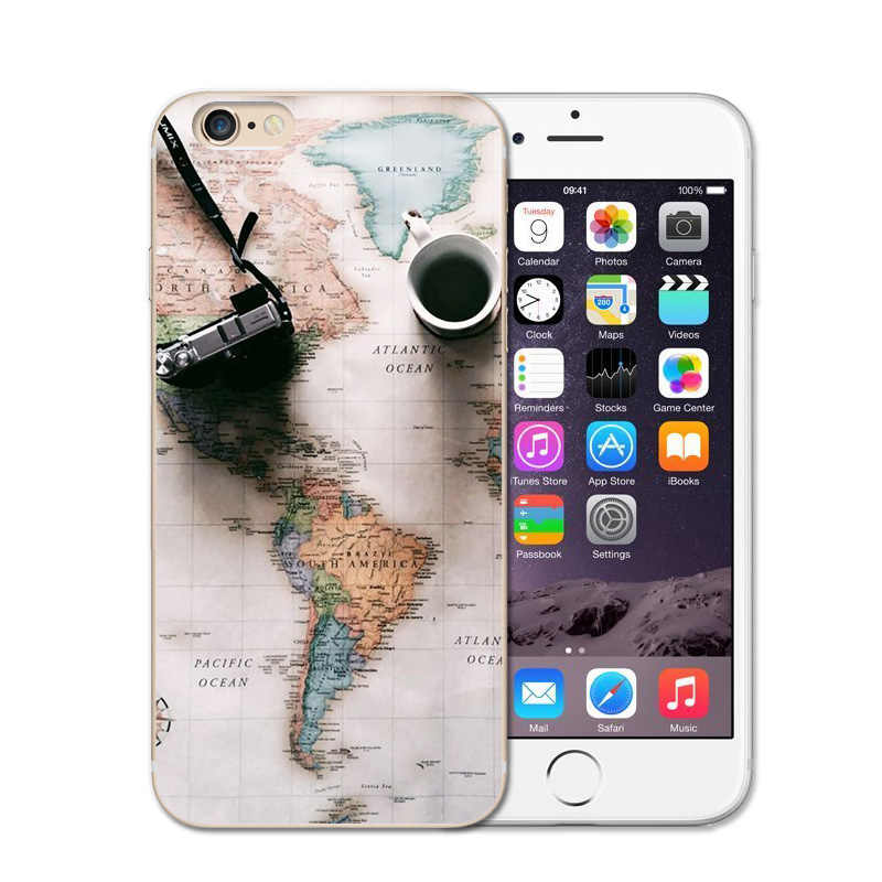 coque iphone 6 world map