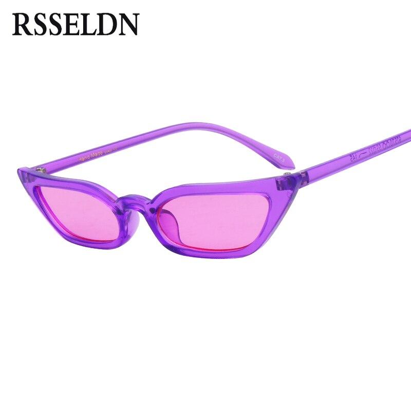 Detalle Comentarios Preguntas sobre Rsseldn sexy pequeño gato Gafas de sol  mujeres marca de moda lindo rojo púrpura claro lente cateye Sol Gafas para  las ... 1ec9ae5f469d
