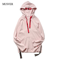 MUSVER Pink Cotton Hoodies Men 2017 Autumn Fashion Casual Pullover Hoodie Hip Hop Casual Male Streetwear