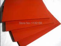 500X500X8mm AG Silicone Sponge Sheet 500mm Width 8mm Thickness Closed Cell Foam Silikon Sheet RED Color